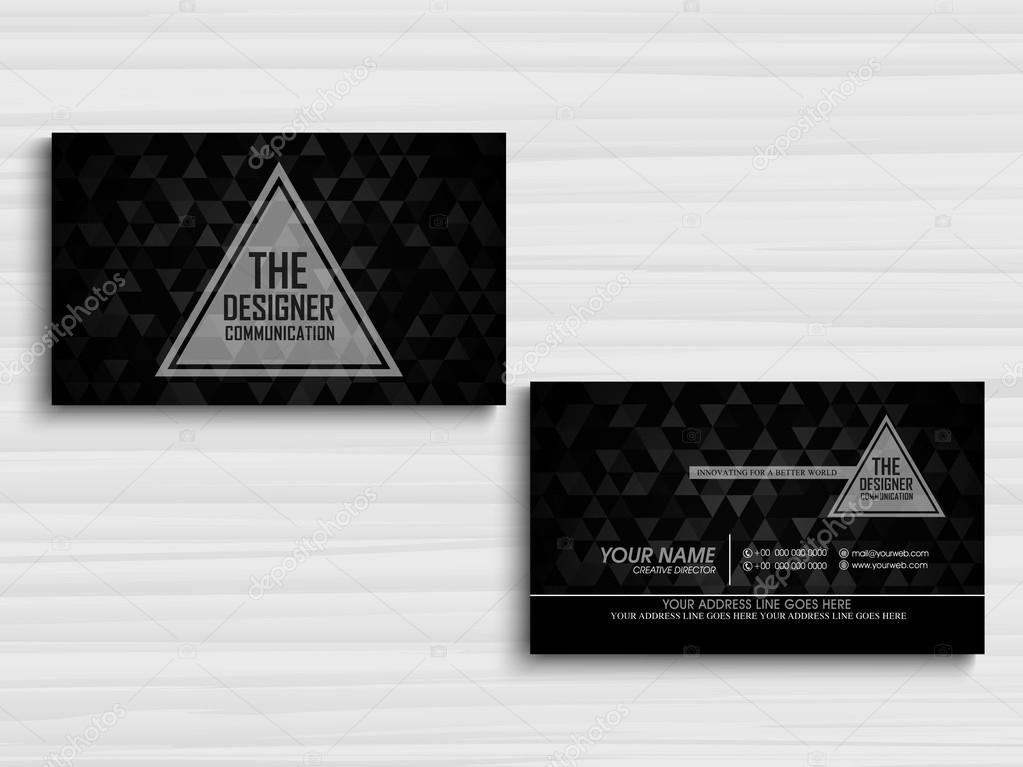 Creative business or visiting card design vetores de stock creative business or visiting card design vetores de stock reheart Gallery