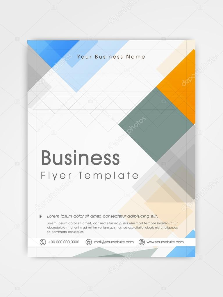 Flyer, template or brochure design for business.