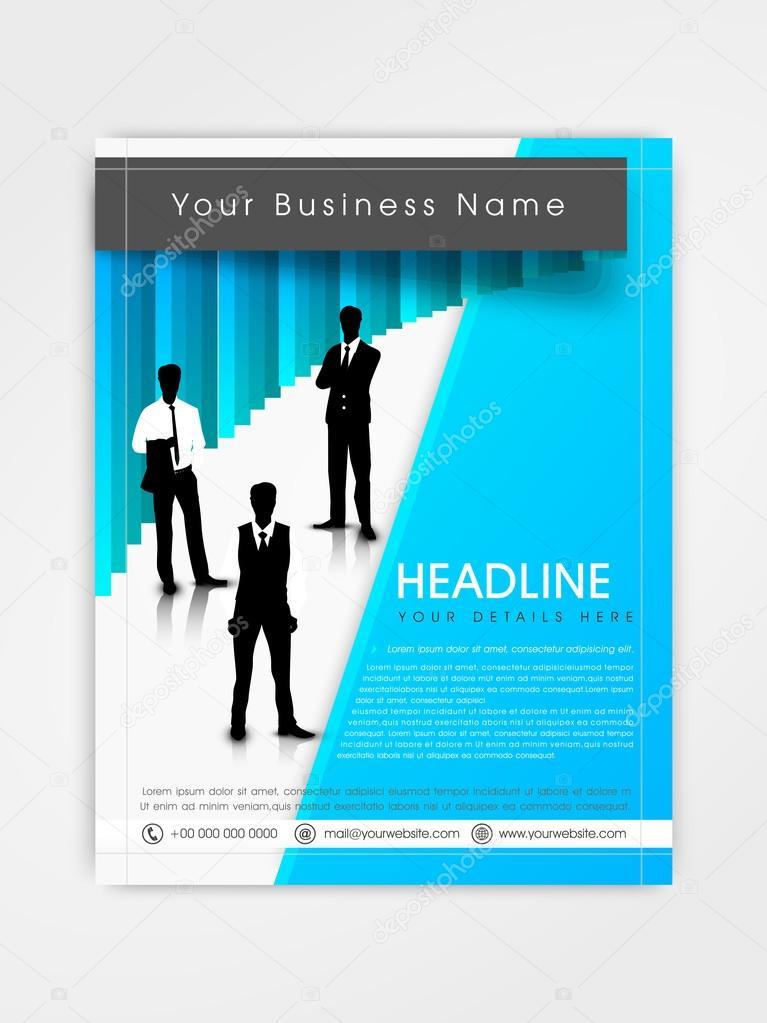 Professional Flyer Template Or Brochure Design Stock Vector
