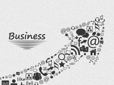 Stylish social media and marketing icons.