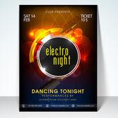 Elektro noční party oslavy leták