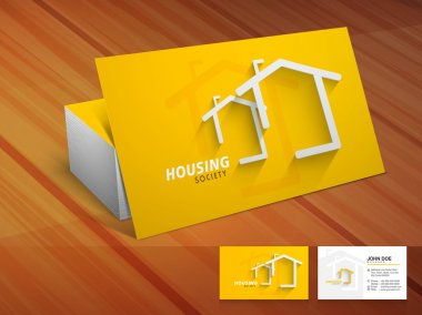 Creative business card for housing society.