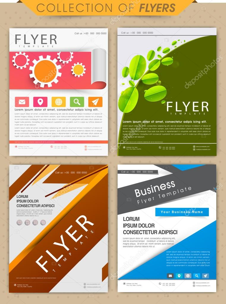 collection of professional business flyer stock vector