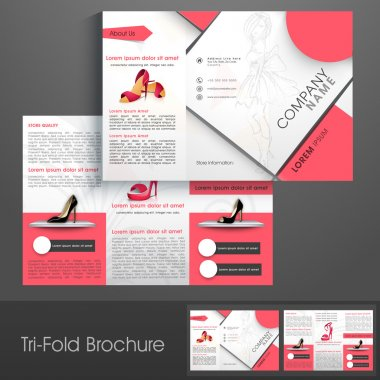 Stylish trifold or template for Women's Sandal Shop.