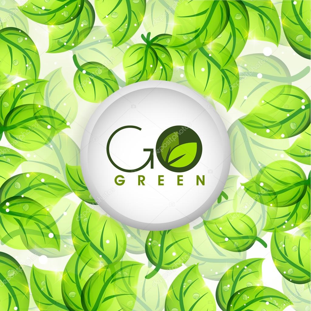 Sticky design for Go Green.