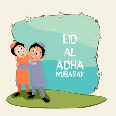 Cute kids celebrating Eid-Al-Adha festival.