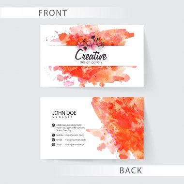 Creative business card or visiting card set.