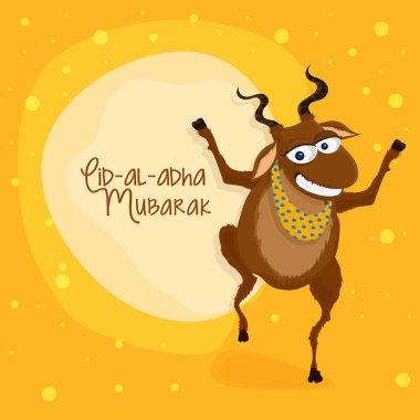 Eid-Al-Adha celebration with goat.
