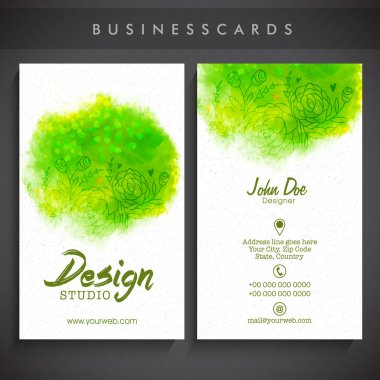 Creative artistic business card set.