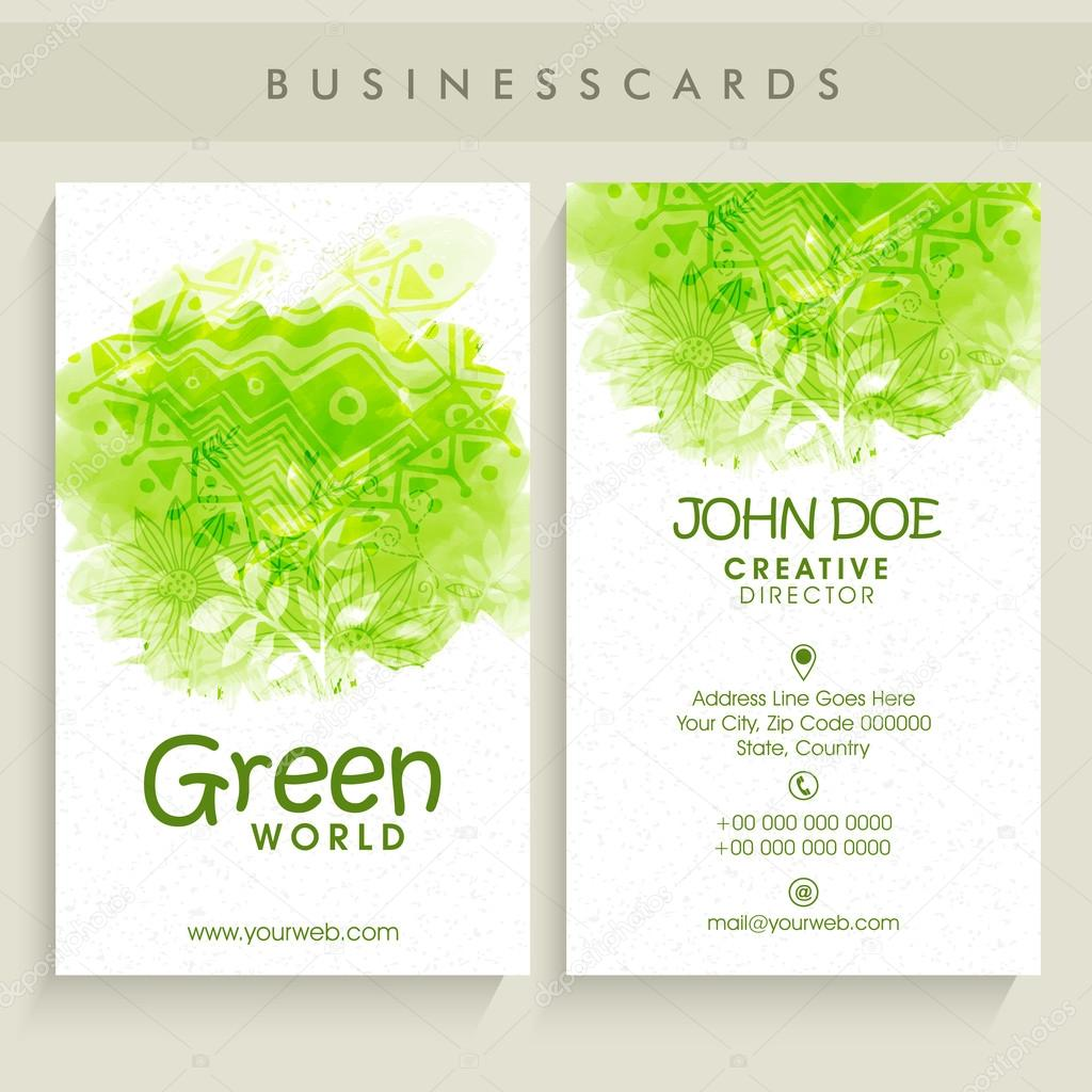 Creative business card set.