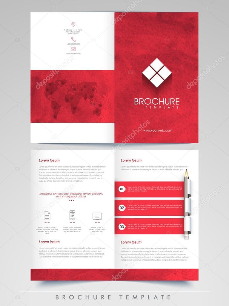Kreative Broschüre, Vorlage oder Flyer für Unternehmen — Stockvektor ...
