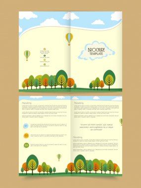 Stylish Two page Ecology Flyer or Brochure design.