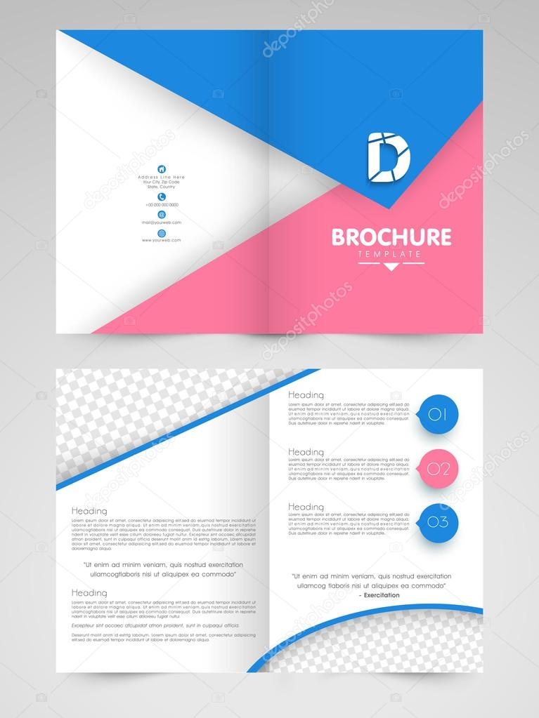 Creative Two Page Brochure Template Or Flyer For Business - Two page brochure template