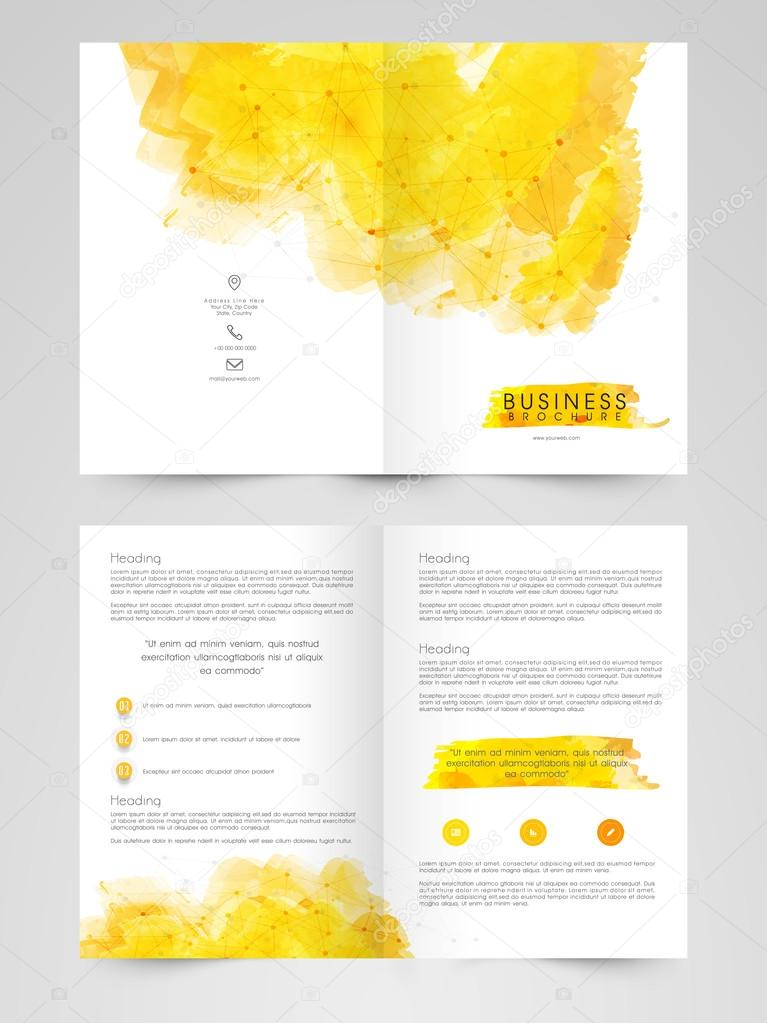 Creative Two Page Brochure Template Or Flyer Stock Vector - Two page brochure template
