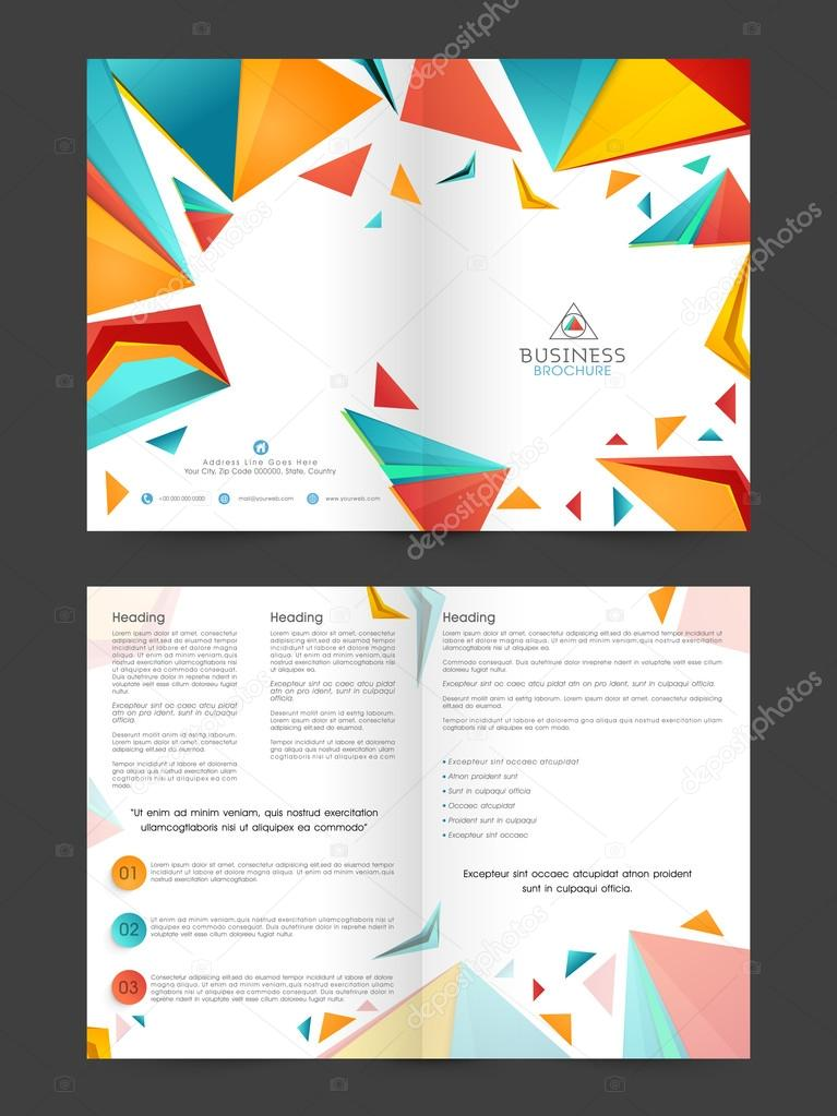 Abstract Two Page Brochure Template Or Flyer For Business Stock