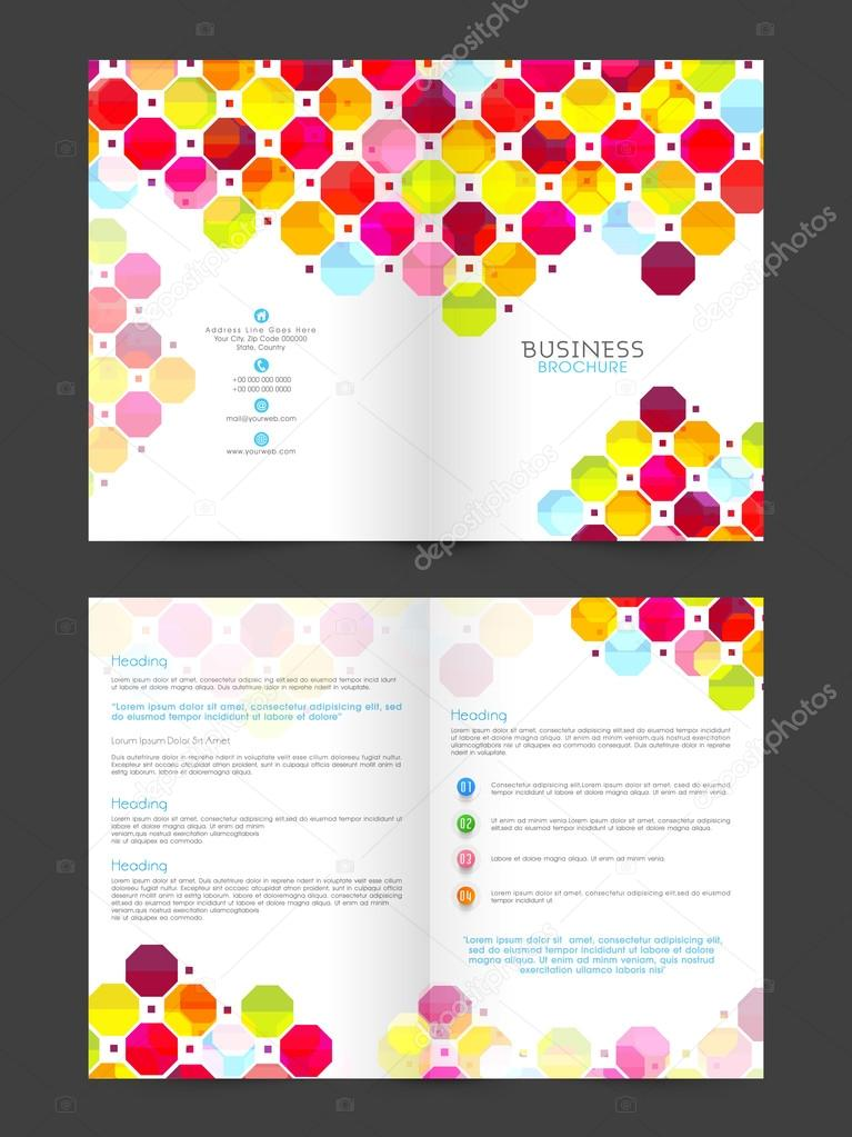 Two Page Business Brochure Template Or Flyer Design Stock - Two page brochure template
