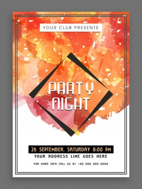 Creative Party Night flyer, template or banner.
