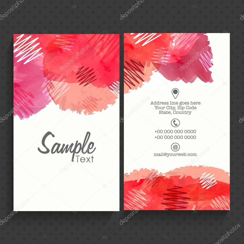 Vertical business card or visiting card set stock vector front and back side presentation of creative vertical business card or visiting card set with space for your professional details reheart Gallery