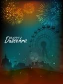 Fotografie Kreative Tempel für Happy Dussehra Feier