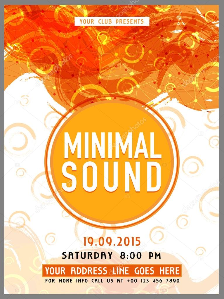 template banner or flyer for party stock vector alliesinteract