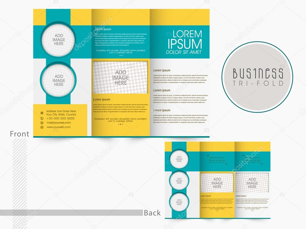 trifold brochure template or flyer for business stock vector