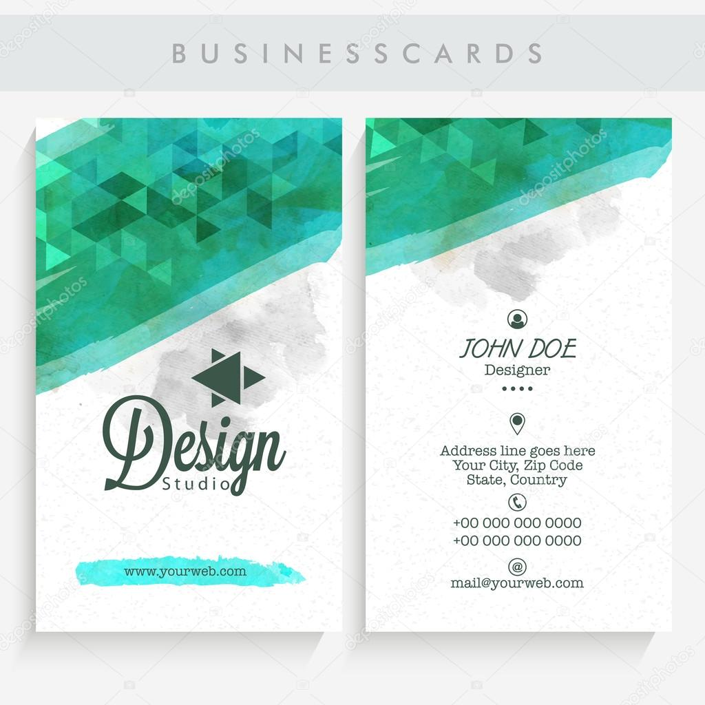Vertical business card or visiting card set stock vector professional vertical business card name card or visiting card set with front and back presentation vector by alliesinteract reheart Gallery