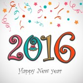 Barevný text 2016 pro nový rok oslava.