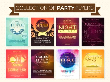 Party celebration Flyer collections.
