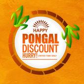 Sale sticker or label for Pongal celebration.