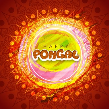 Pongal celebration greeting card design.