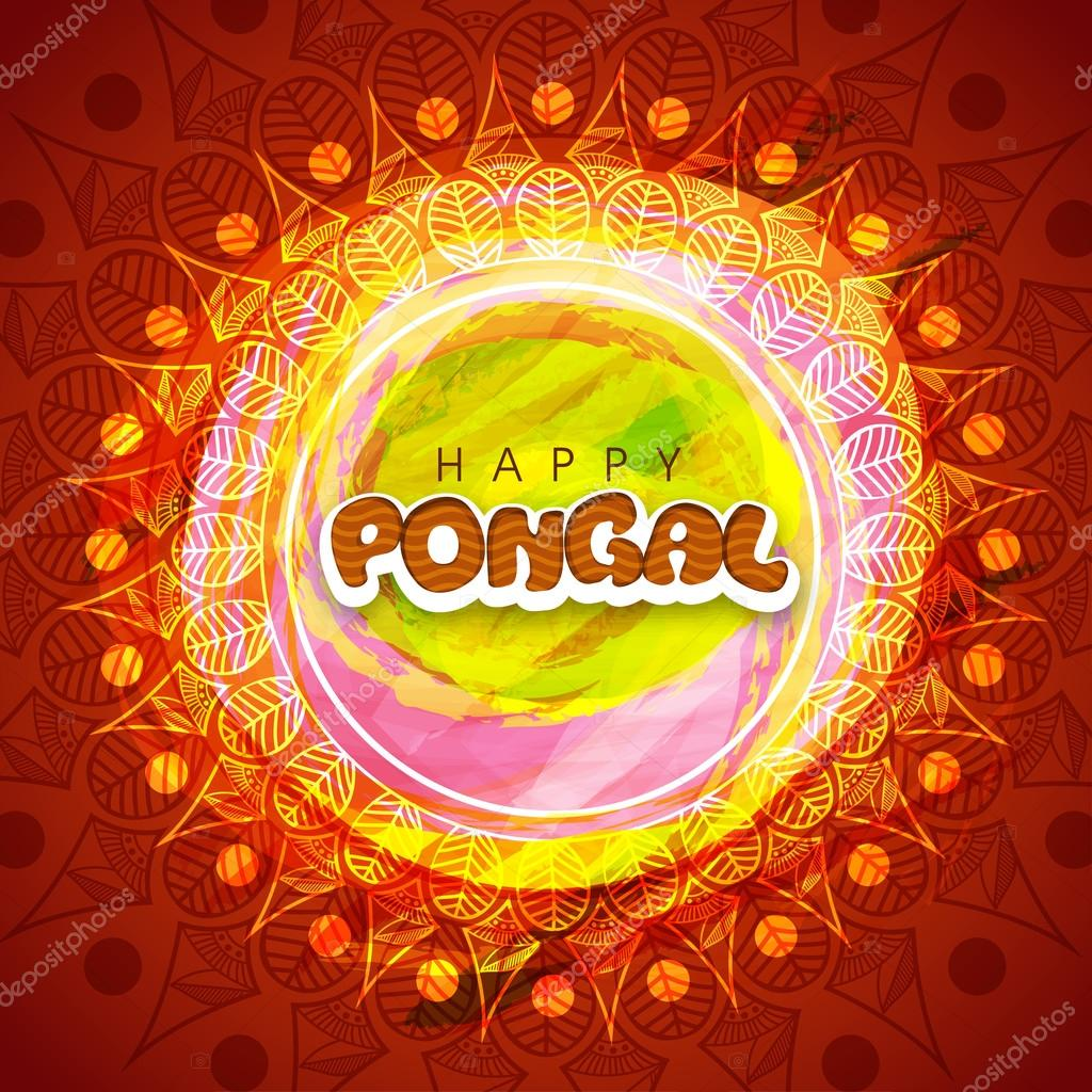 Pongal celebration greeting card design stock vector colorful floral design decorated greeting card for south indian harvesting festival happy pongal celebration vector by alliesinteract m4hsunfo