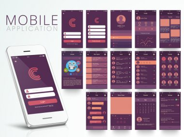 Different Mobile Application UI screens.