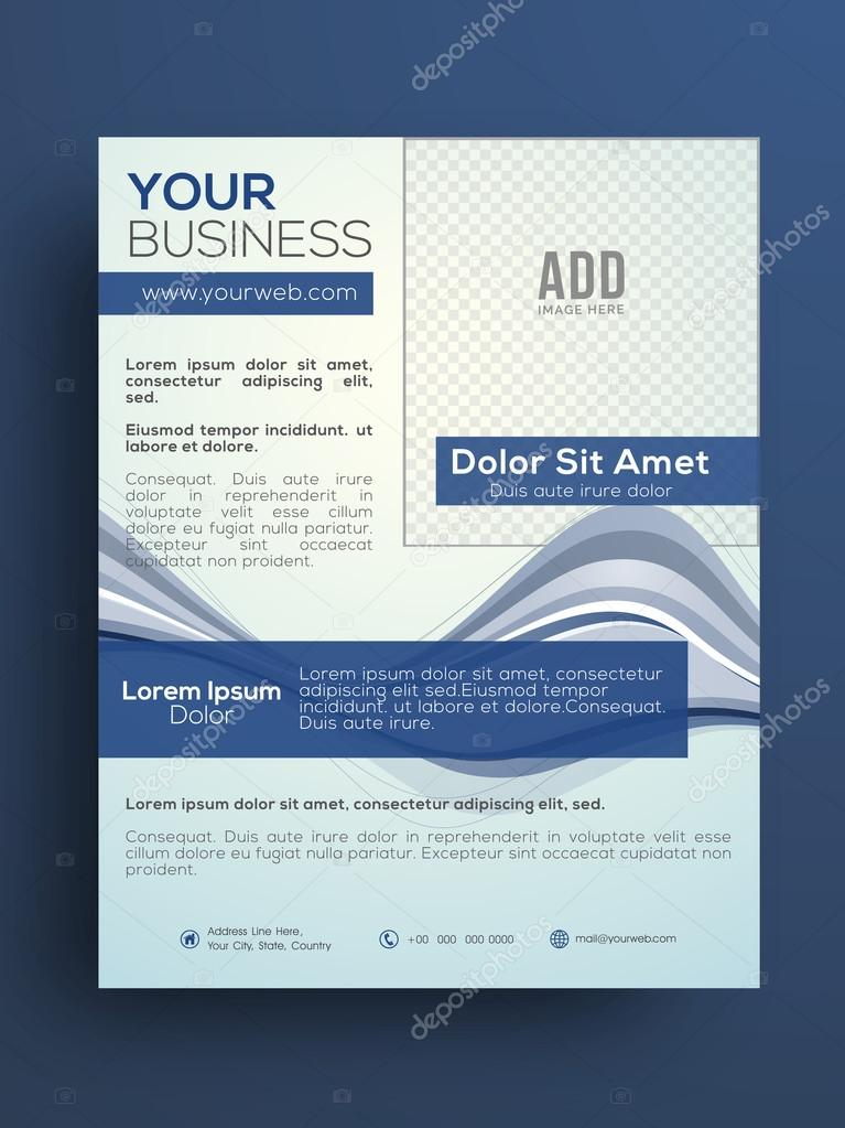 professional business flyer or pamphlet stock vector