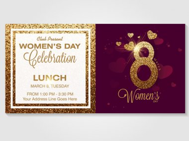 Invitation card for Women's Day celebration.