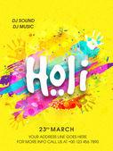Pamphlet, Banner or Flyer for Holi Celebration.