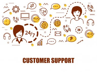 Infographic elements for Customer Support company.