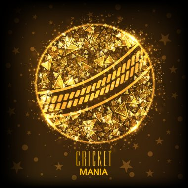 Golden Ball for Cricket Sports concept.