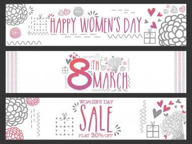 Web header or banner for Women's Day celebration.
