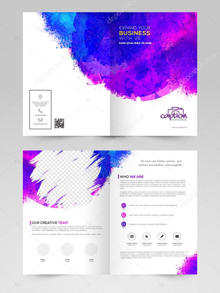 two page brochure template or flyer for business stock vector