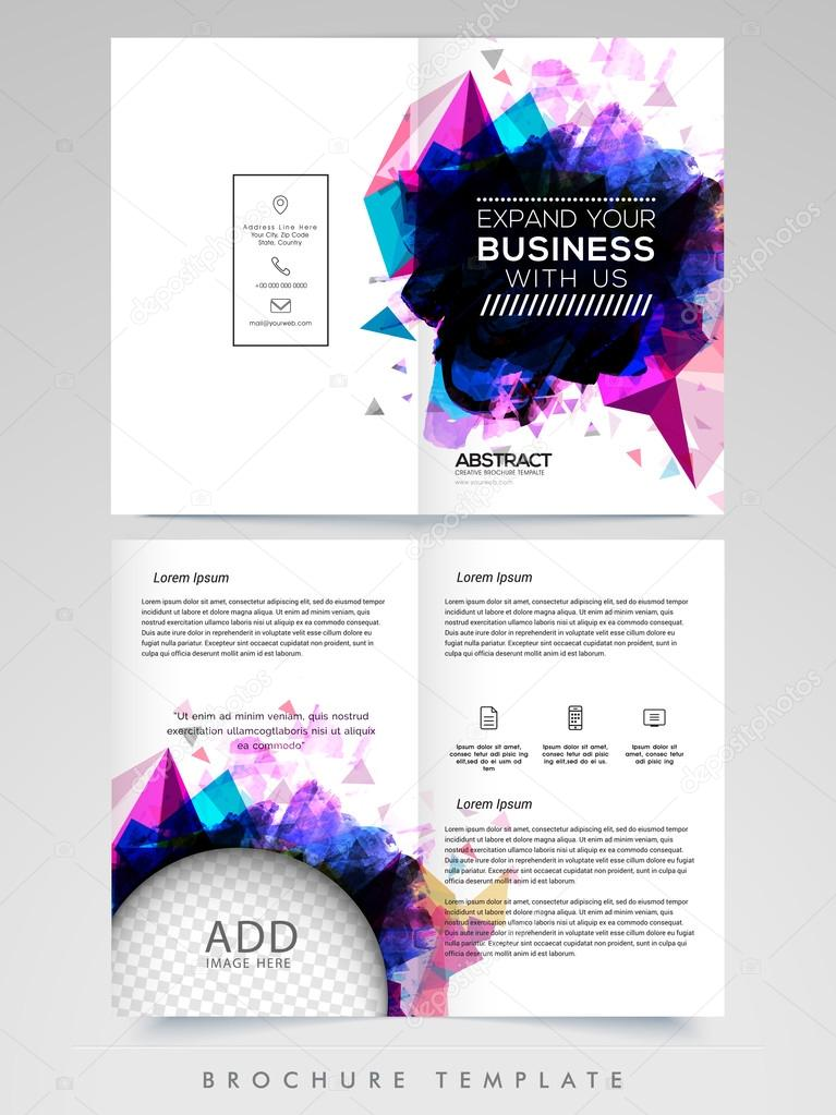 Two Page Brochure Template Or Flyer For Business Stock Vector - Two page brochure template