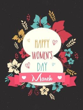 Stylish text for Women's Day celebration.