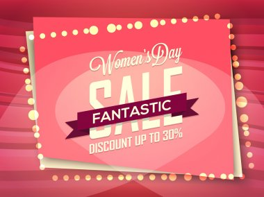 Sale Poster, Banner or Flyer for Women's Day.