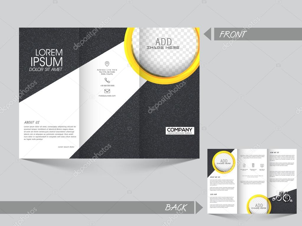 Two Page Trifold Brochure Template Or Flyer Design Stock Vector