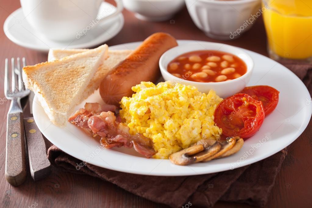 Colazione all 39 inglese con uova strapazzate pancetta for Piani colazione