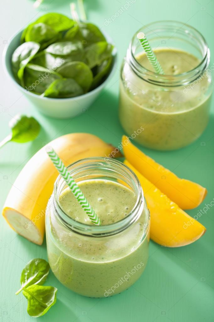 smoothie spenat mango banan