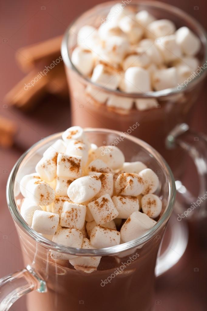 marshmallow in chocolademelk