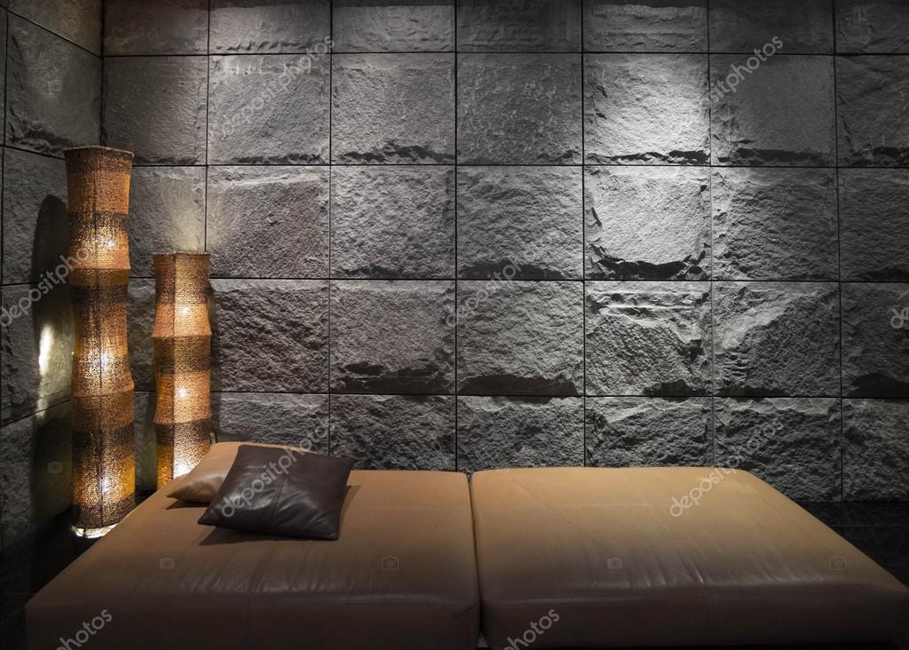 Steen In Interieur : Aziatische luxe zwarte stenen interieur u2014 stockfoto © nejron #104553308