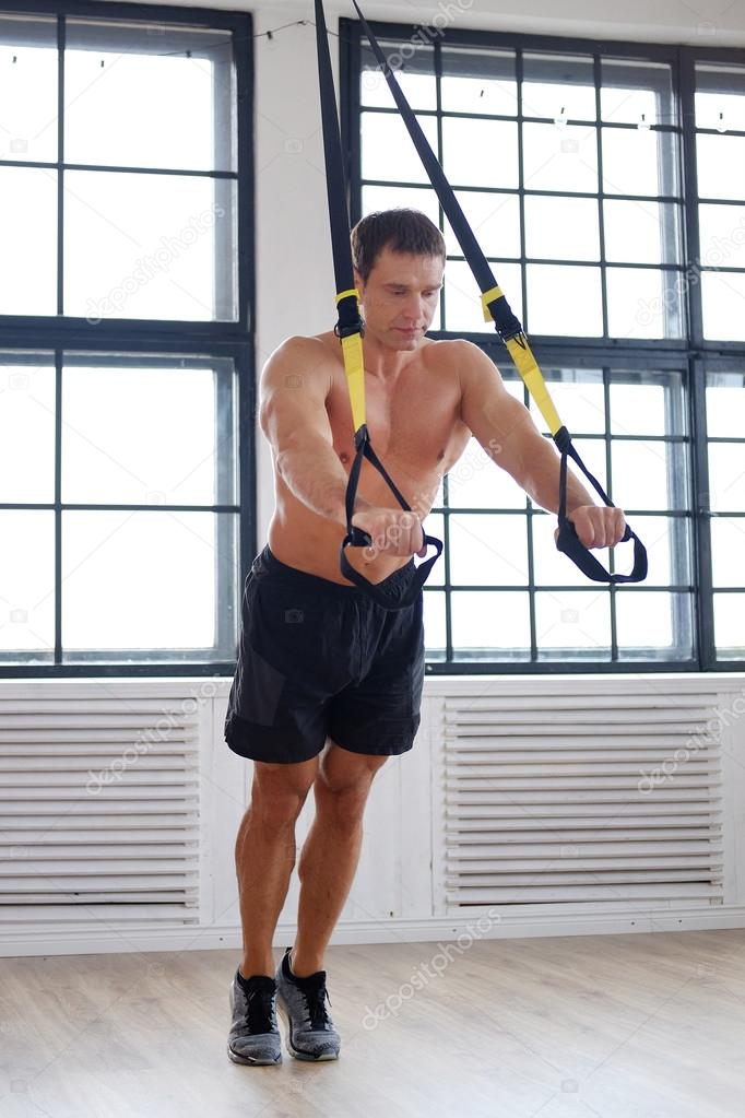 Middle Age Man Doing Workouts Stock Photo 105320320