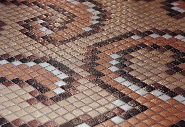 Texture of indoor colored tiles.
