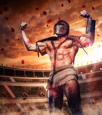 Blody gladiator after fight